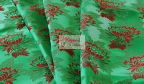 Selyem-brokát 2514 zöld-piros 776