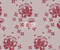 Selyem-brokát 5686 ezüst-piros r-53