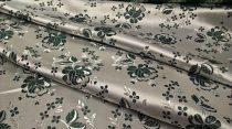 Selyem-brokát 5686 ezüst-zöld r-96