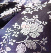 Selyem-brokát 5686 kék-fehér 125