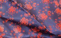 Selyem-brokát 5686 kék-piros 185