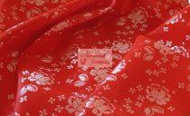 Selyem-brokát 5686 piros-fehér 133