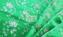 Selyem-brokát 5686 zöld-fehér 216