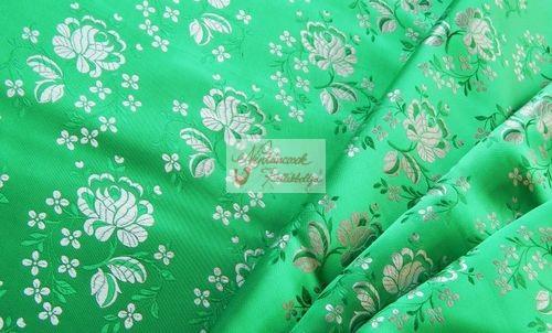 Selyem-brokát 5686 zöld-fehér 216 - Néptáncosok Kellékboltja 961cf6606a