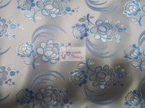 Selyem-brokát 5696 ezüst-kék