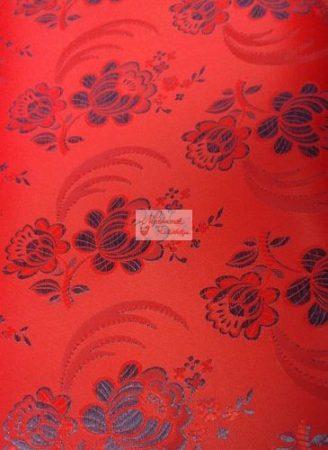 Selyem-brokát 5696 piros-kék
