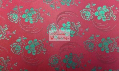Selyem-brokát 5696 piros-zöld
