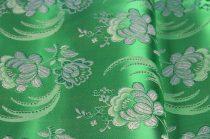 Selyem-brokát 5696 zöld-fehér 136