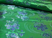 Selyem-brokát 5696 zöld-kék 146