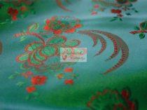 Selyem-brokát 5696 zöld-piros 156