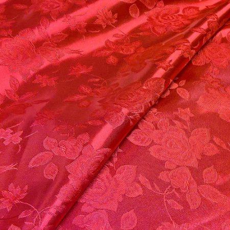 Selyem-brokát piros