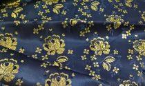 Selyem-brokát 5686 kék-arany lurex 25