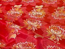 Selyem-brokát 2514 piros-arany 701