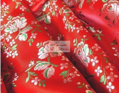 Selyem-brokát 5686 piros-fehér-zöld 153