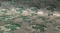 Selyem-brokát 2514 ezüst-zöld r-36