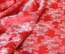 Selyem-brokát 2514 piros-szürke 718