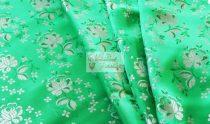 Selyem-brokát 5686 zöld-arany