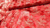 Selyem-brokát 2514 piros-arany 623