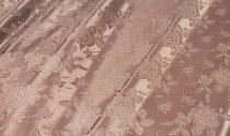 Selyem-brokát barna
