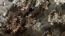 Selyem-brokát 2514 fekete-ezüst 339