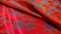 Selyem-brokát 5686 piros-színes 165
