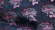 Selyem-brokát 2514 fekete-rózsaszín 513