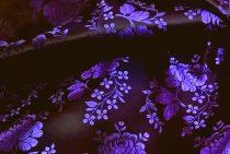 Selyem-brokát 5686 fekete-lila 49