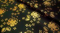 Selyem-brokát 5686 fekete-arany lurex 19