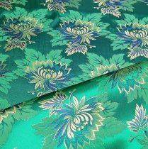 Selyem-brokát 2514 zöld-kék 786