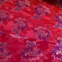 Selyem-brokát 2514 piros-lila 634
