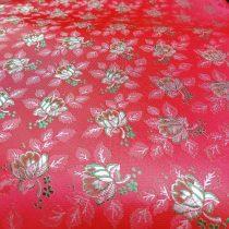Selyem-brokát 6313 piros-zöld 33