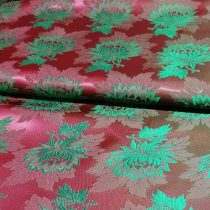 Selyem-brokát 2514 bordó-zöld 883
