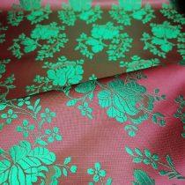 Selyem-brokát 5686 bordó-zöld 283