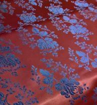 Selyem-brokát 5686 bordó-kék 293