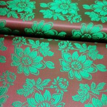 Selyem-brokát 6255 bordó-zöld 213
