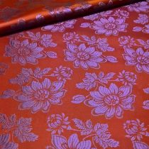 Selyem-brokát 6255 bordó-lila 243
