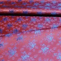 Selyem-brokát 6313 bordó-kék 233