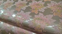 Selyem-brokát 2514 ezüst-rózsaszín 12