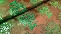 Selyem-brokát 2514 barna-zöld 1027