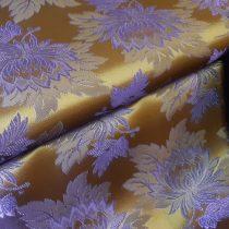 Selyem-brokát 2514 barna-lila 1057
