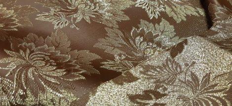 Selyem-brokát 2514 barna-arany lurex 1067