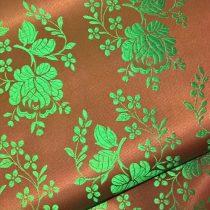 Selyem-brokát 5686 barna-zöld 377