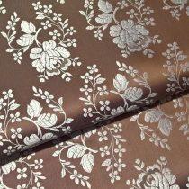 Selyem-brokát 5686 barna-ezüst 397