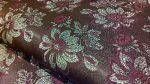 Selyem-brokát 6255 barna-bordó lurex 267