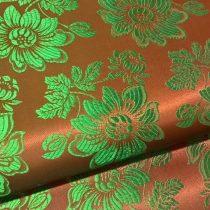 Selyem-brokát 6255 barna-zöld 277