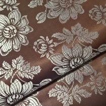 Selyem-brokát 6255 barna-ezüst 297