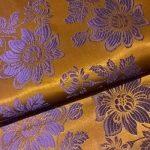 Selyem-brokát 6255 barna-lila 307