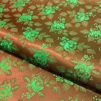 Selyem-brokát 6313 barna-zöld 277