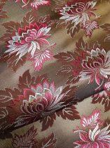 Selyem-brokát 2514 barna-bordó 1097