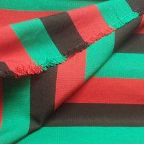 Székely szőttes csíkos piros-fekete-zöld 5 cm